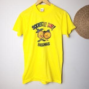 Vintage Single Stitch Squeeze Me Bahamas Tshirt